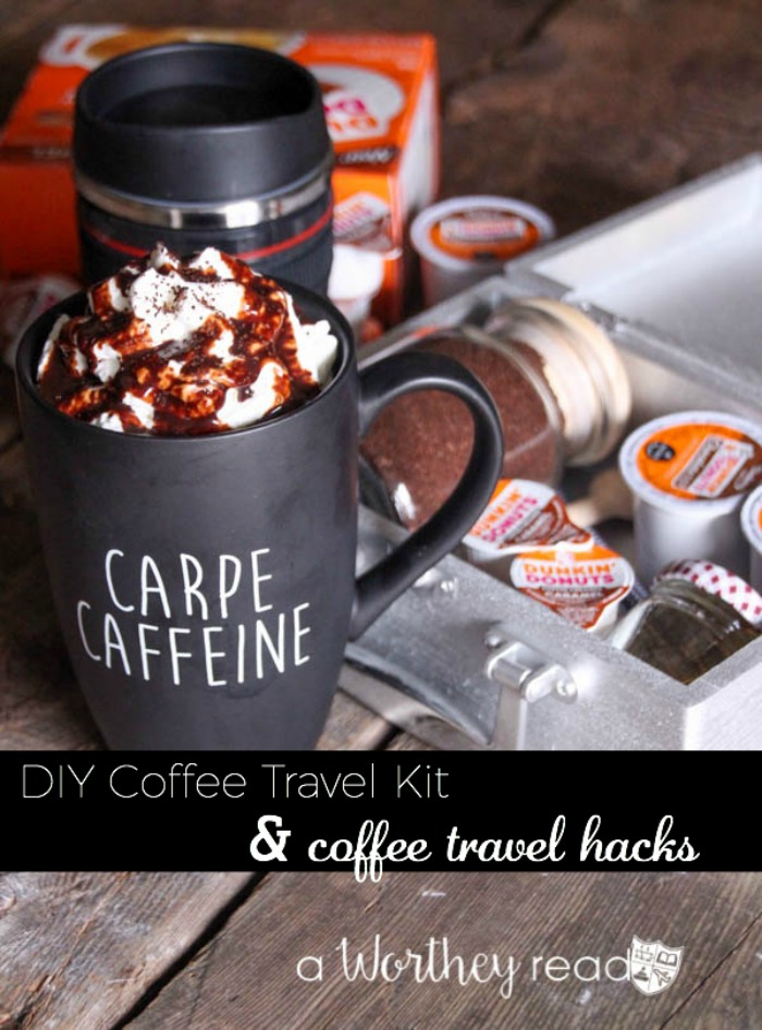 Make your own coffee travel kit while you're on the road. Here's an easy, step by step guide on how to make a coffee travel kit. DIY Coffee Travel Kit