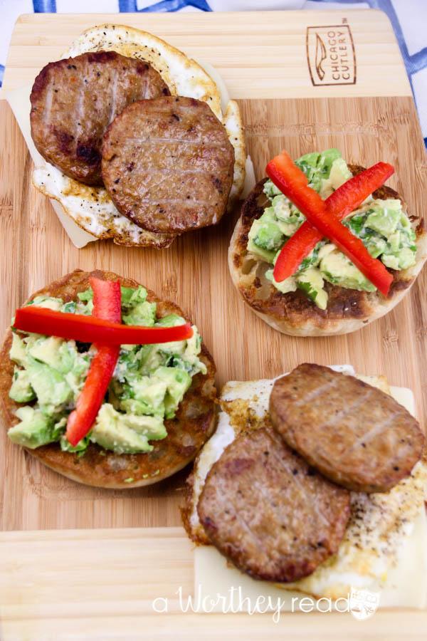 Sausage & Avocado Breakfast Sandwich