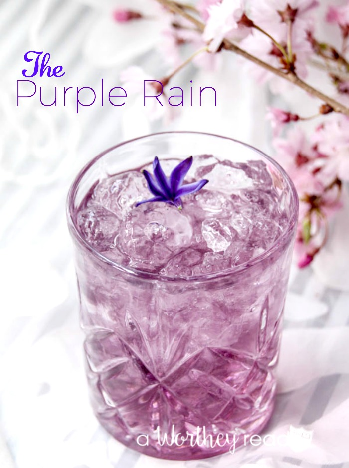 The Purple Rain Cocktail- dubbed after the late Prince Nelson Rogers. This cocktail is not only a pretty purple, but with Viniq Shimmering Liqueur and Stolichnaya Elit, you can't go wrong. Planning a Prince party? Be sure the purple rain is being served at the bar.