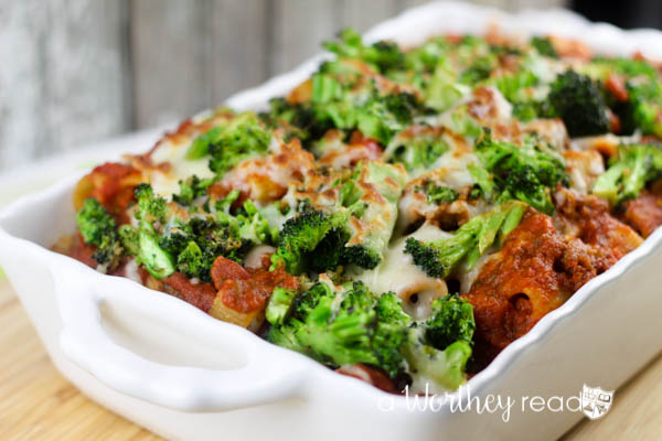 Baked Rigatoni with Broccoli & Mozzarella