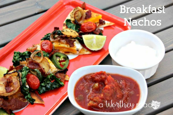 Put a twist on your nacho recipe with a easy breakfast idea- Breakfast Nachos