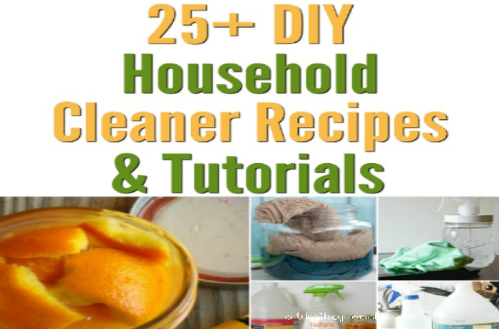 Easy DIY Household Cleaners to use during Spring Cleaning and Fall Cleaning! 25 DIY Household Cleaner Recipes & Tutorials