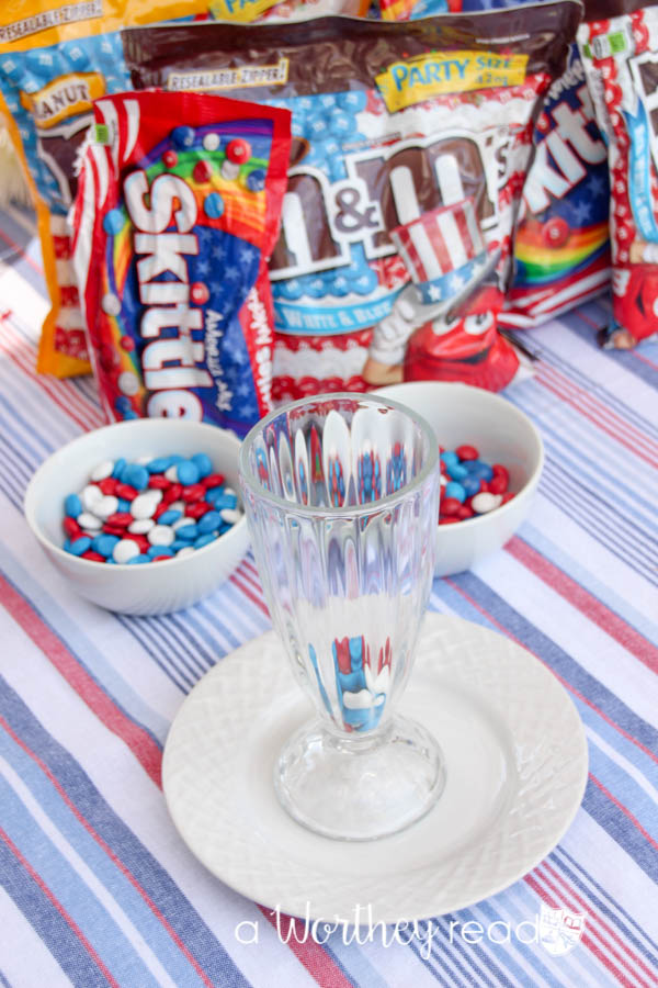 Red, White and Blue Ice Cream & Brownie Parfaits-100