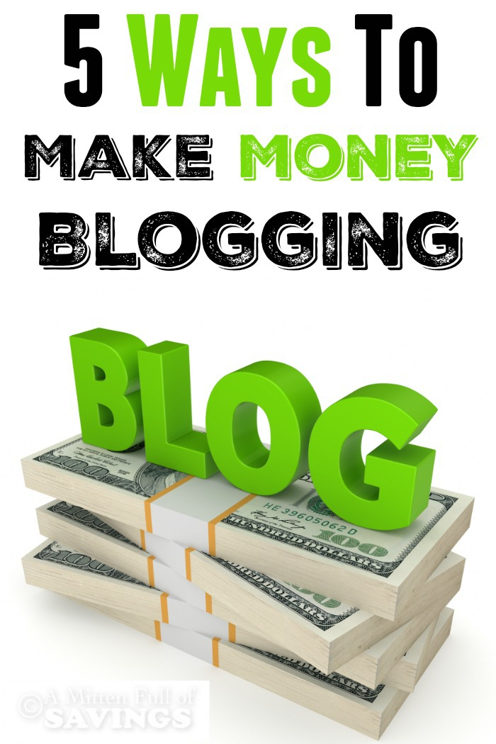 Don't miss our Top 5 Ways To Make Money Blogging! Great easy to use methods to secure your blogging income!