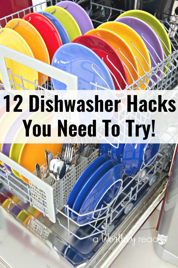 Hacks are life-savers. Here's a few ways you can use your dishwasher (besides washing dishes) to save you time and money! 12 Dishwasher Hacks You Need To Try!