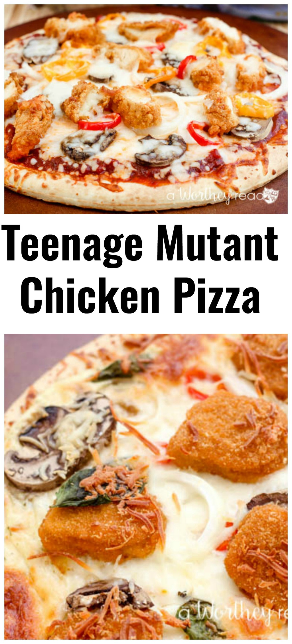 Easy Chicken Pizza Recipe Inspired by Teenage Mutant Ninja Turtles