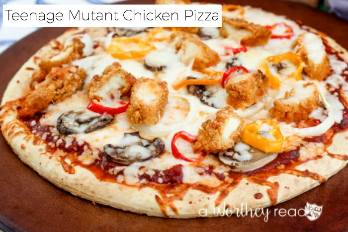 Easy Chicken Pizza Recipe Inspired by Teenage Mutant Ninja Turtles