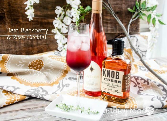 Hard Blackberry & Rosé Cocktail