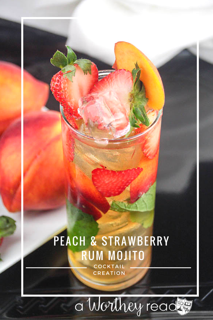 Mojitos are a popular drink to sip on all year long. However, in the summer when peaches and strawberries are in-season, this is a great time to mix a little rum, peaches and strawberries to put a twist on your classic mojito. Introducing our summer mojito cocktail, the Peach & Strawberry Rum Mojito.