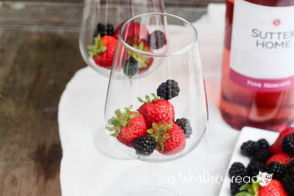 Pink Moscato & Rum Slush-8