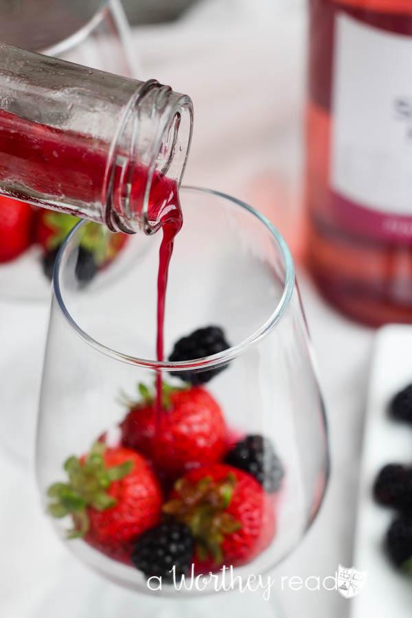 Pink Moscato & Rum Slush-9