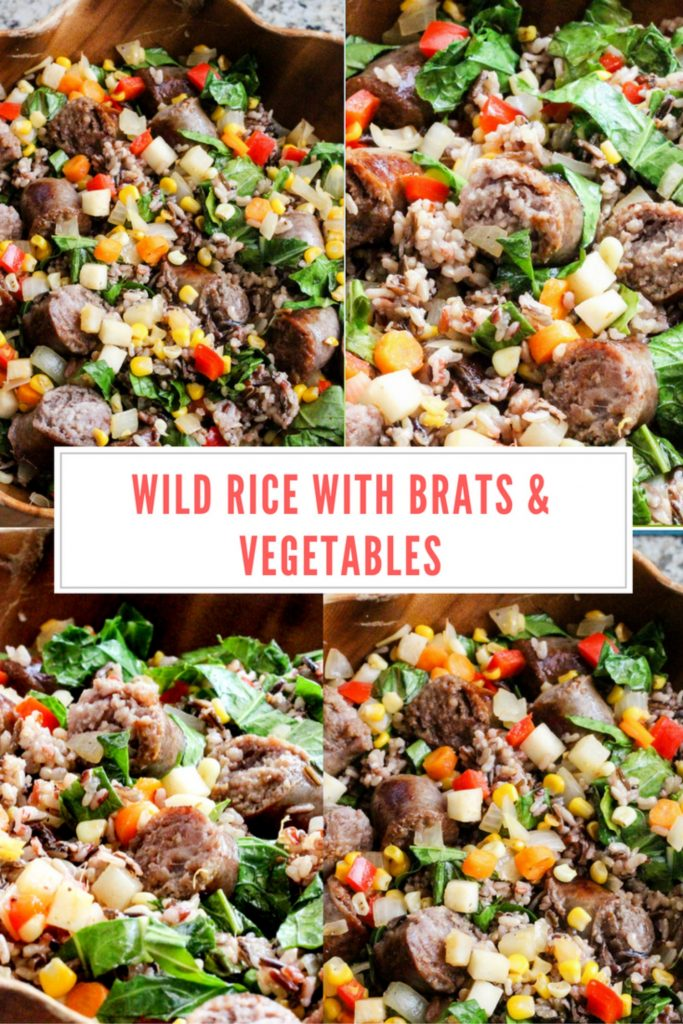 Get dinner on the table quickly with Johnsonville Brats, wild rice, sweet corn kernels, carrots and a few more veggies. This easy dinner idea is not only healthy, but also delicious for the whole family to enjoy! Plus we're using a pressure cooker to prepare this meal.Wild Rice with Brats & Vegetables