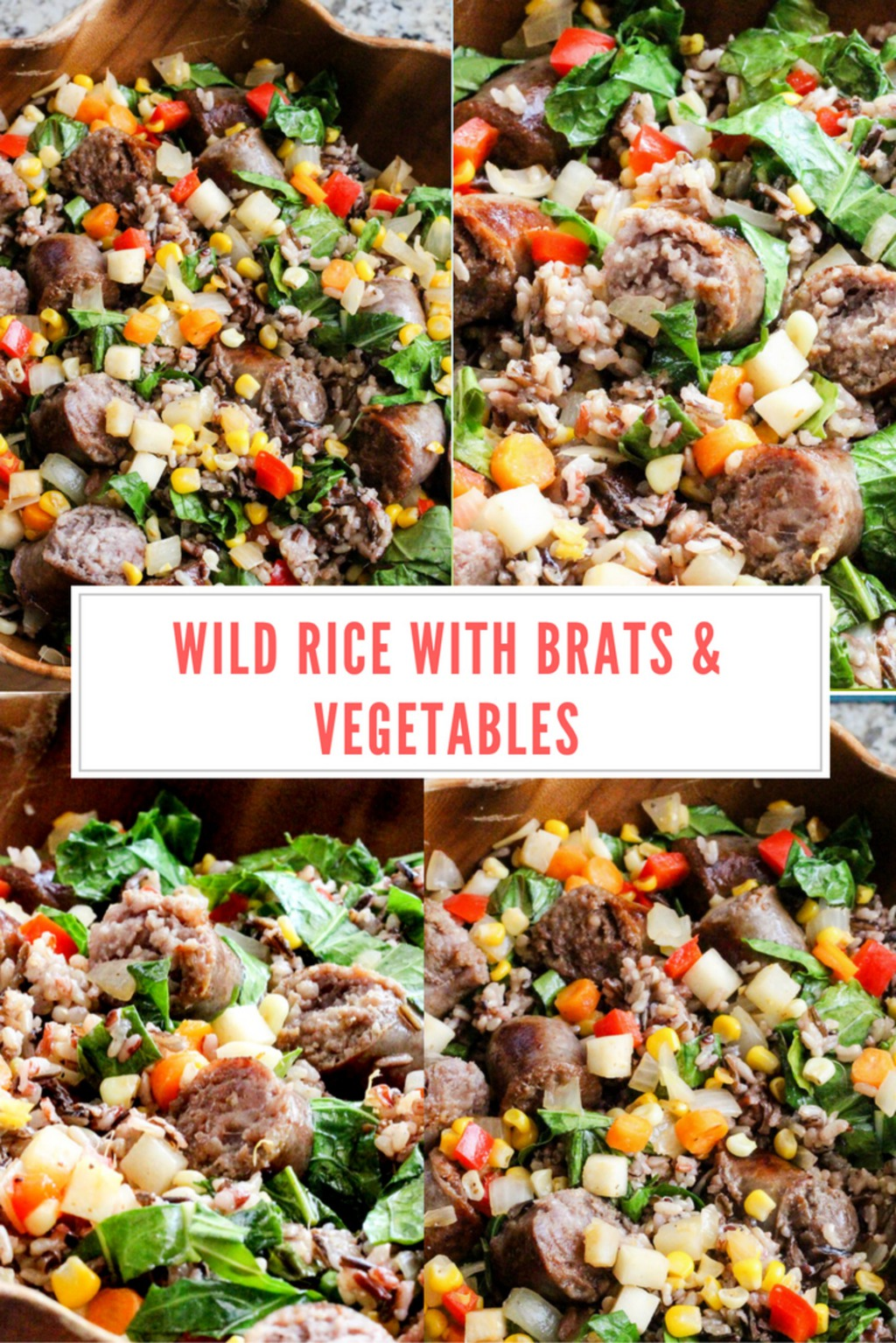Wild Rice with Brats & Vegetables - This Worthey Life - Food