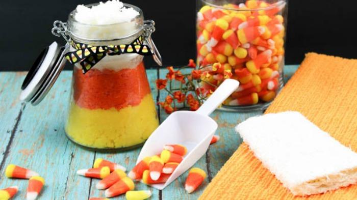 Candy Corn Sugar Scrub