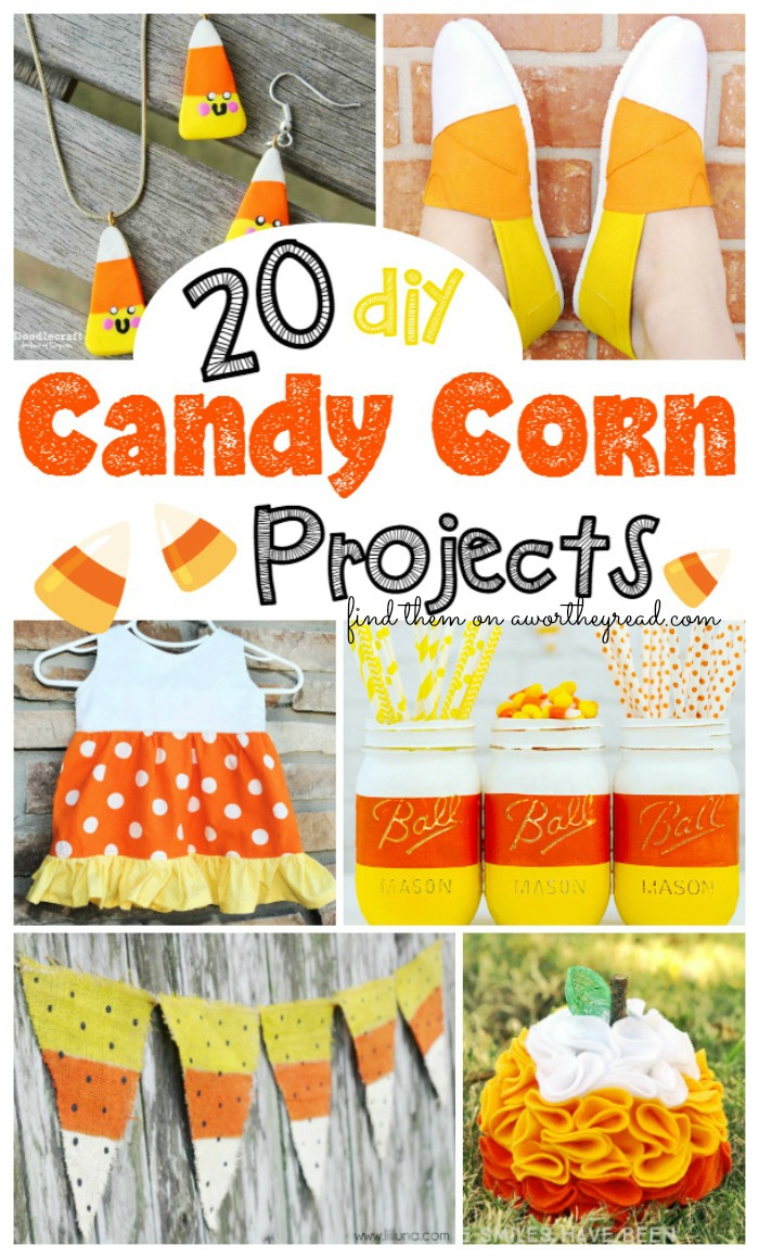 Make these 20 DIY Candy Corn Projects for Halloween crafts and decor this year! Great Fall craft ideas that are super fun, affordable and easy to make!