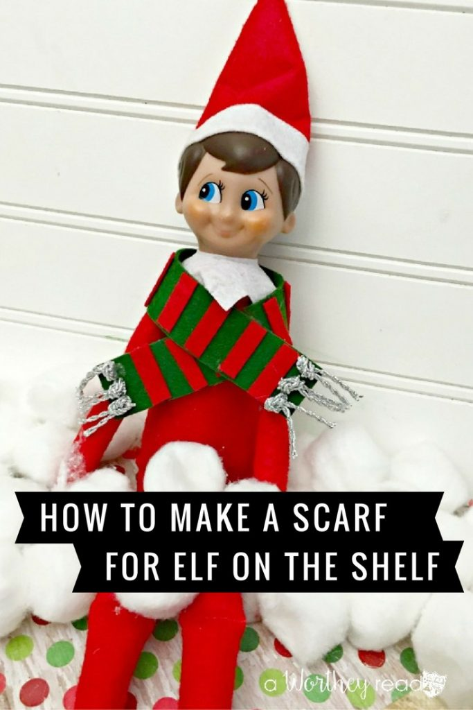 Make The Elf On The Shelf DIY Scarf to easily customize your Elf this year! This is an easy way to personalize your Elf and keep kids busy at the same time!