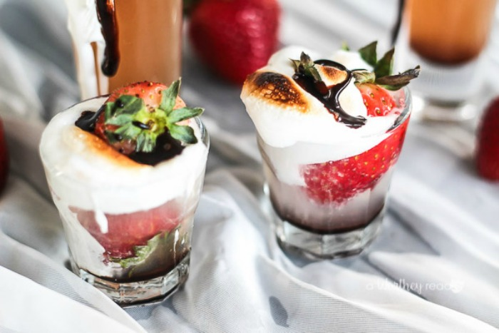 Toasted Strawberry Shots