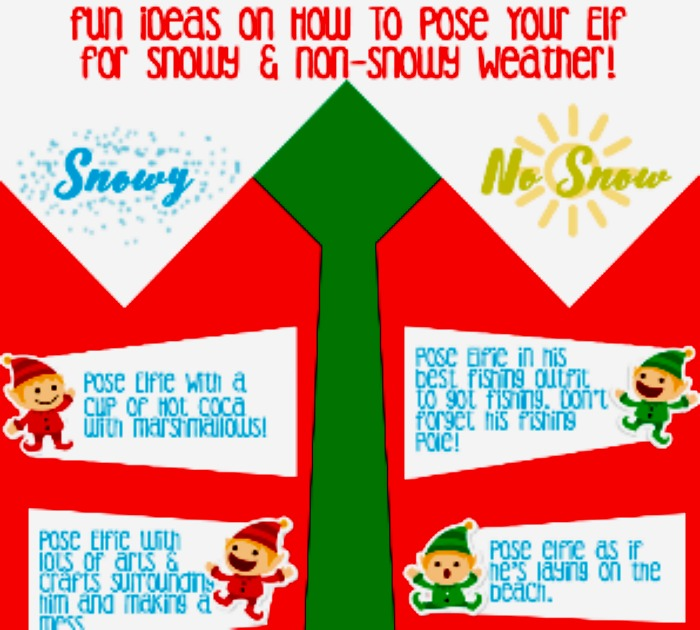 12 Fun Elf on The Shelf Poses