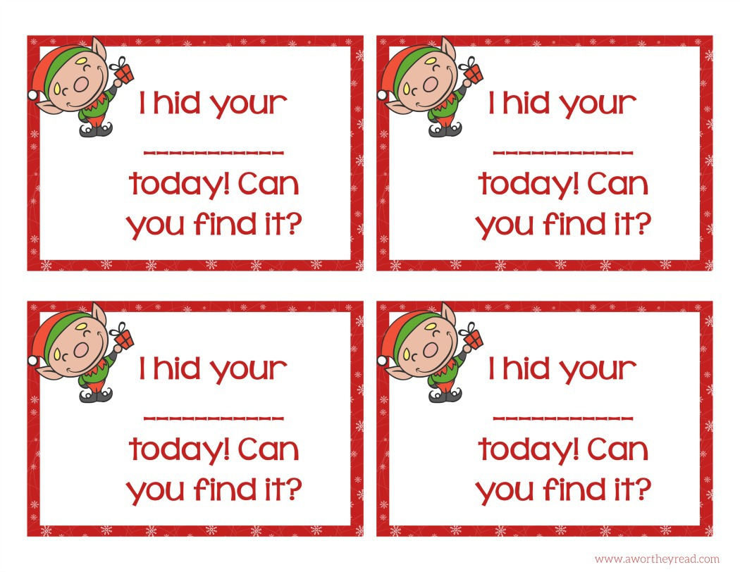 Elf on the Shelf Printable Cards Activity