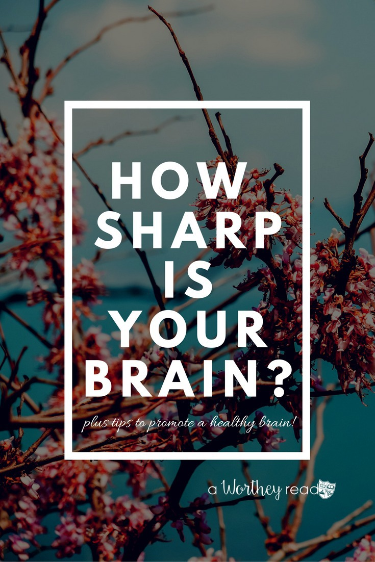 Having a healthy brain is important. When's the last time you took a brain health assessment? I discuss my results, plus tips on promoting a healthy brain! Go here- How Sharp Is Your Brain?