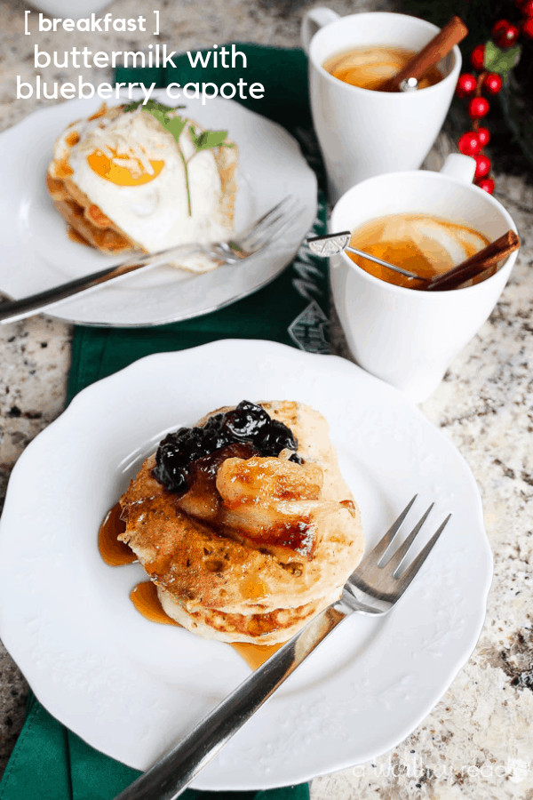 Start your morning off right with a healthy and delicious breakfast. Our easy buttermilk pancake recipe can be made in a matter of minutes, and you can make it two ways. Click through to get the recipe for our Easy Buttermilk Pancakes with Pistachios Buttermilk Blueberry Capote Pancakes.