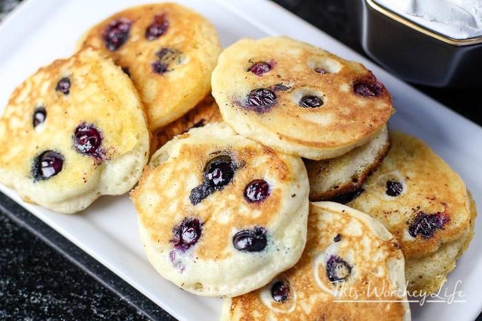 Blueberry Pancake Mousse Tart