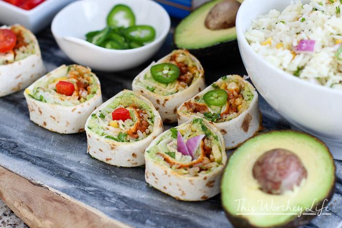 Cinco de Mayo Tex-Mex Burrito Sushi Rolls