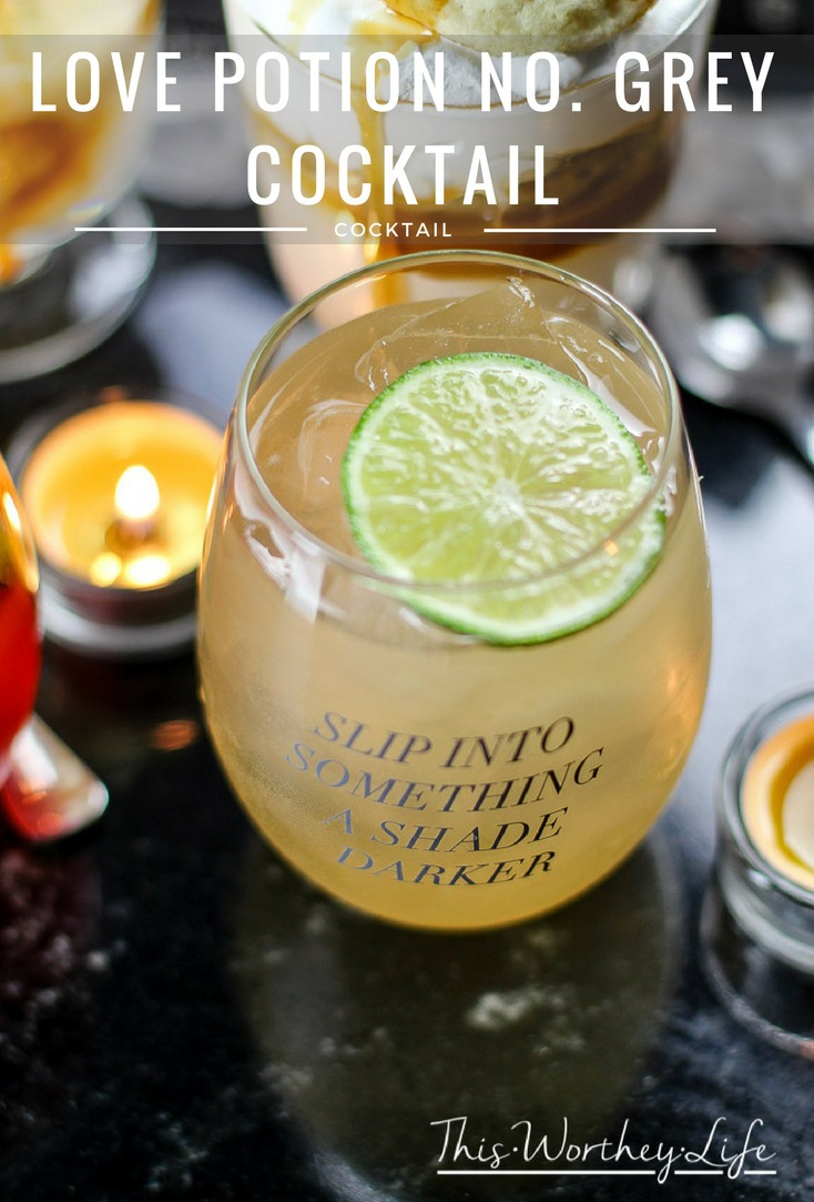 Fifty Shades Darker Party Ideas- Love Potion No. Grey Cocktail