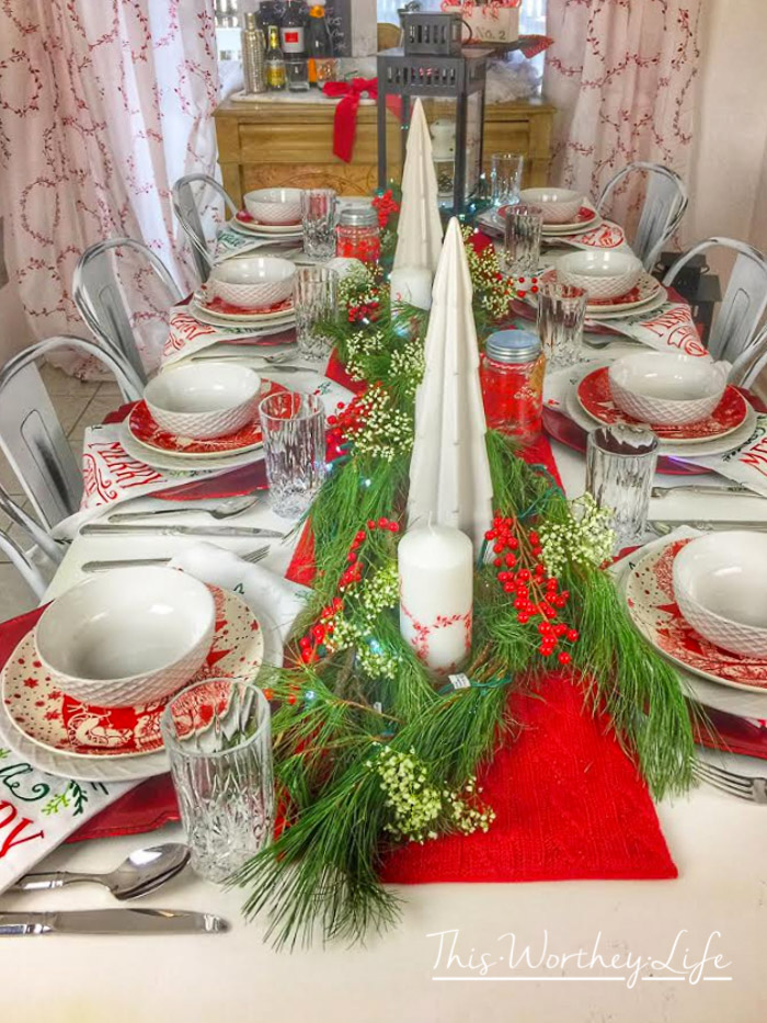 Need to switch up your Christmas decor this year? Check out our Merry Christmas Red & White Tablescape and decor we did this year.