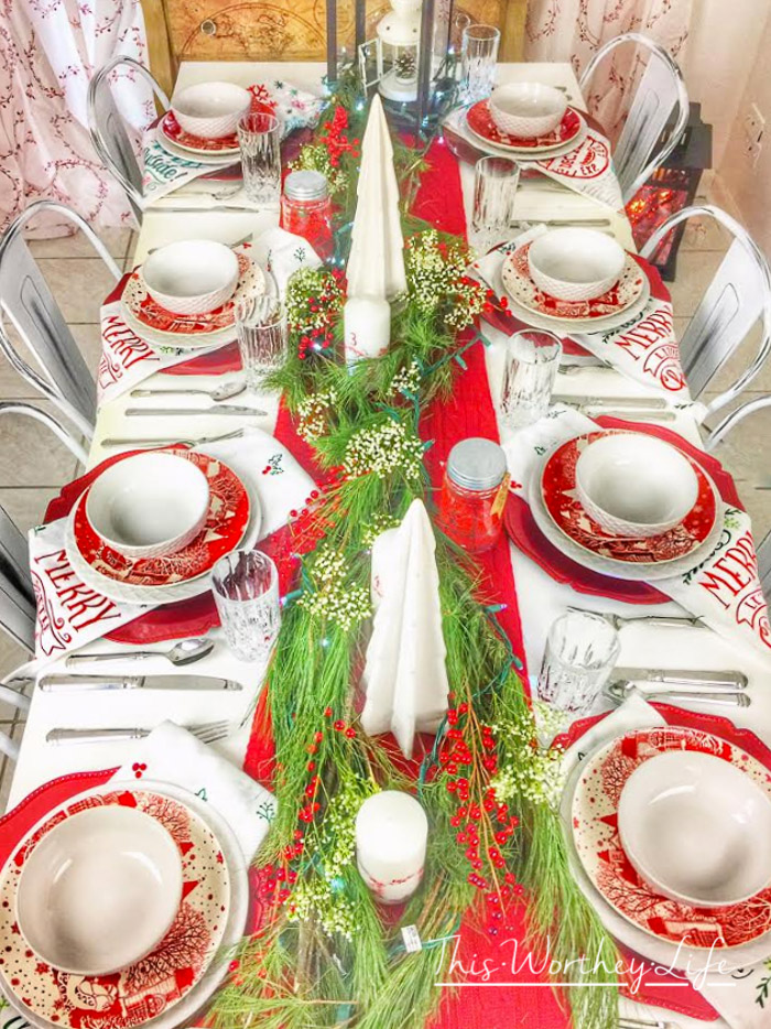 Merry Christmas Tablescape