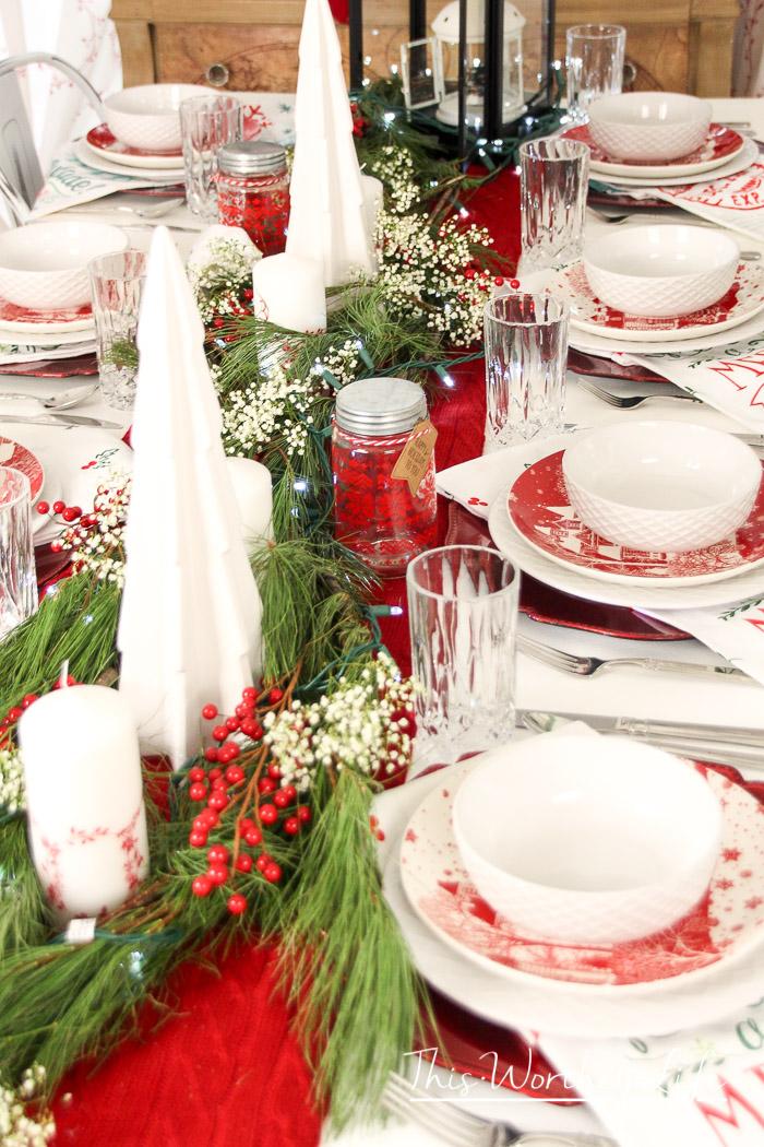 Christmas Table Decor Idea