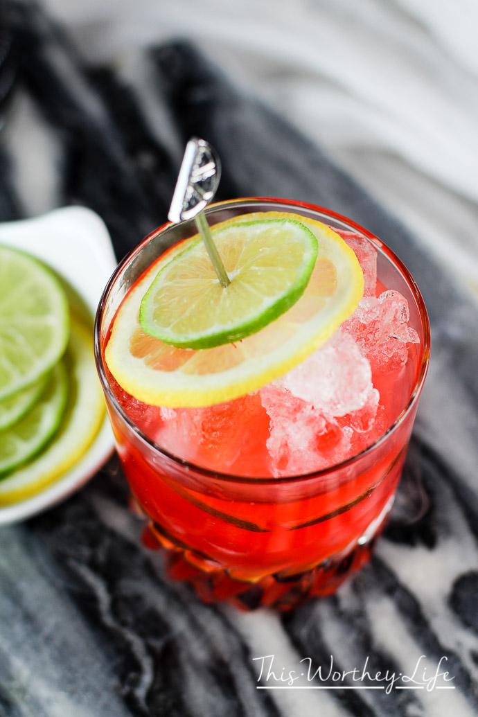 Cherry Lemon-Lime Spritzer Cocktail