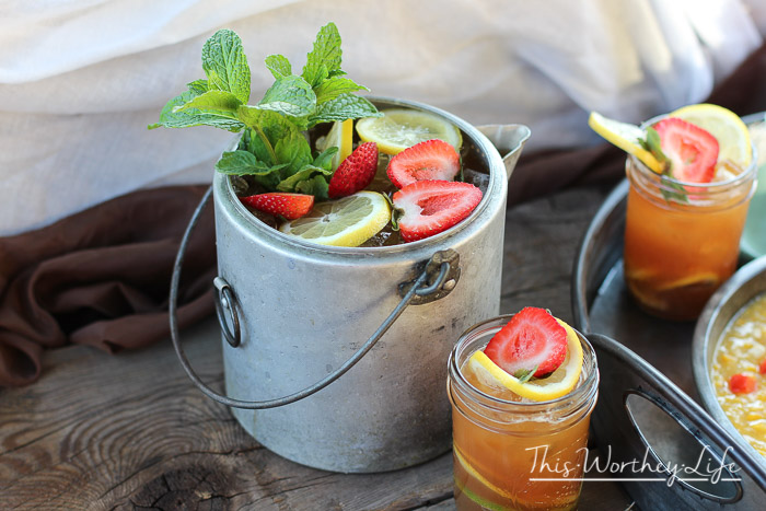 Strawberry + Lemon Mint Kettle Iced Tea