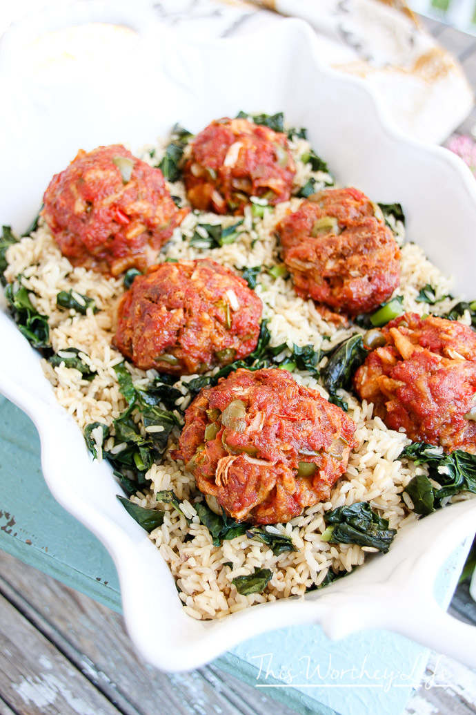 Easy Dinner recipe- Take the classic meatloaf recipe to make Olive Burger Meatball in under 30 minutes!