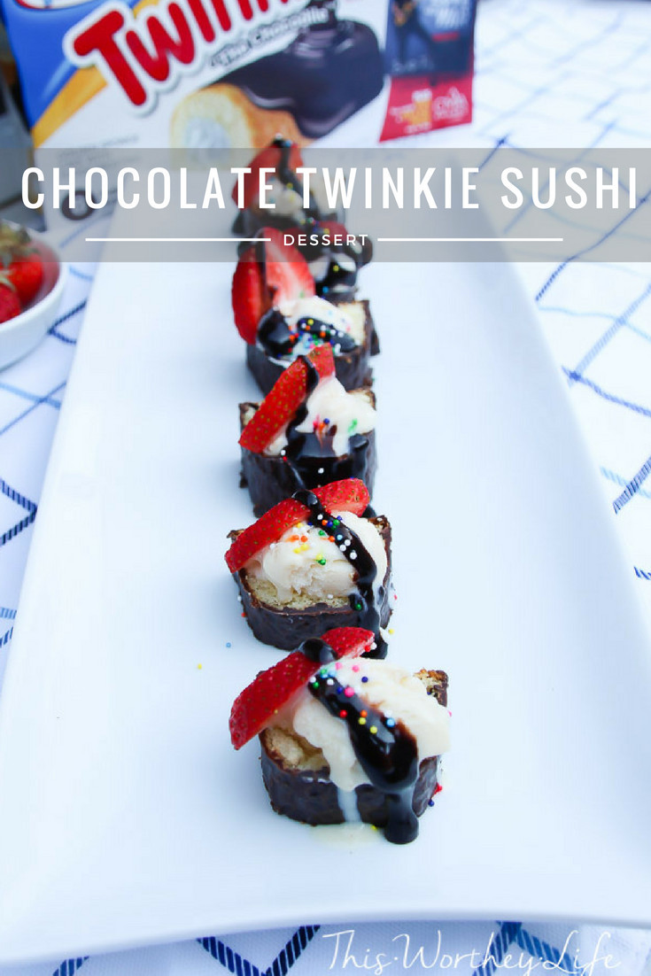 Put a twist on your Twinkie, with this easy dessert idea. Our Chocolate Twinkie Sushi comes with ice cream, chocolate syrup, and of course, the Twinkie! Get the recipe below!