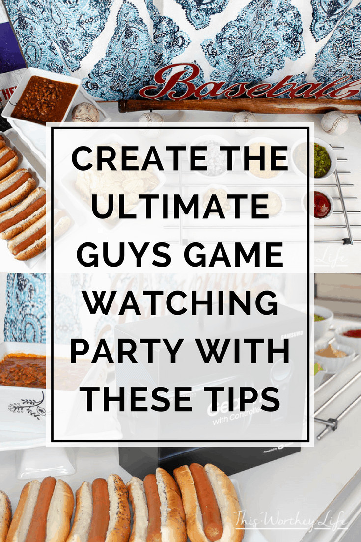 Create the Ultimate Guys Game Day Party with this Hot Dog Bar Idea, plus how to use the True VR App!