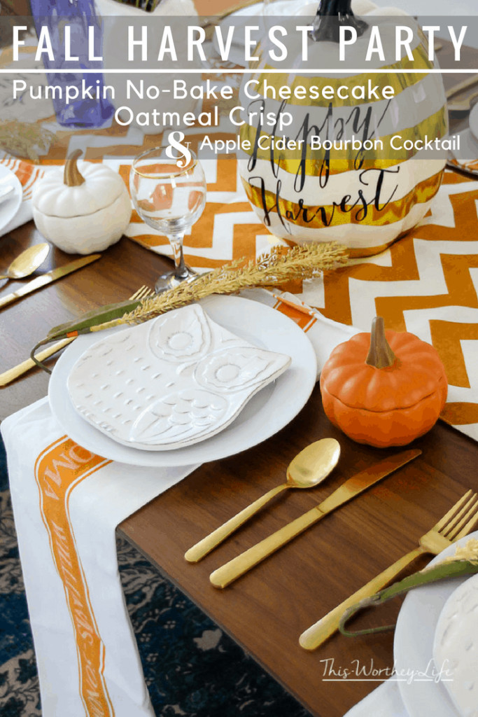 Plan a Fall Harvest Party with these ideas. Get fall decorating tips, plus fall food ideas, easy fall recipes and cocktails you make. Plus a Fall Table Setting Idea!
