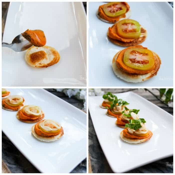 Mini Tortilla Hummus Chicken Bites