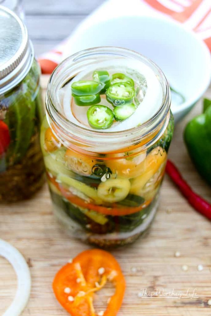 How To Can Garden Pickled Okra + Peppers