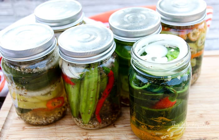 Garden Pickled Okra + Peppers Tutorial