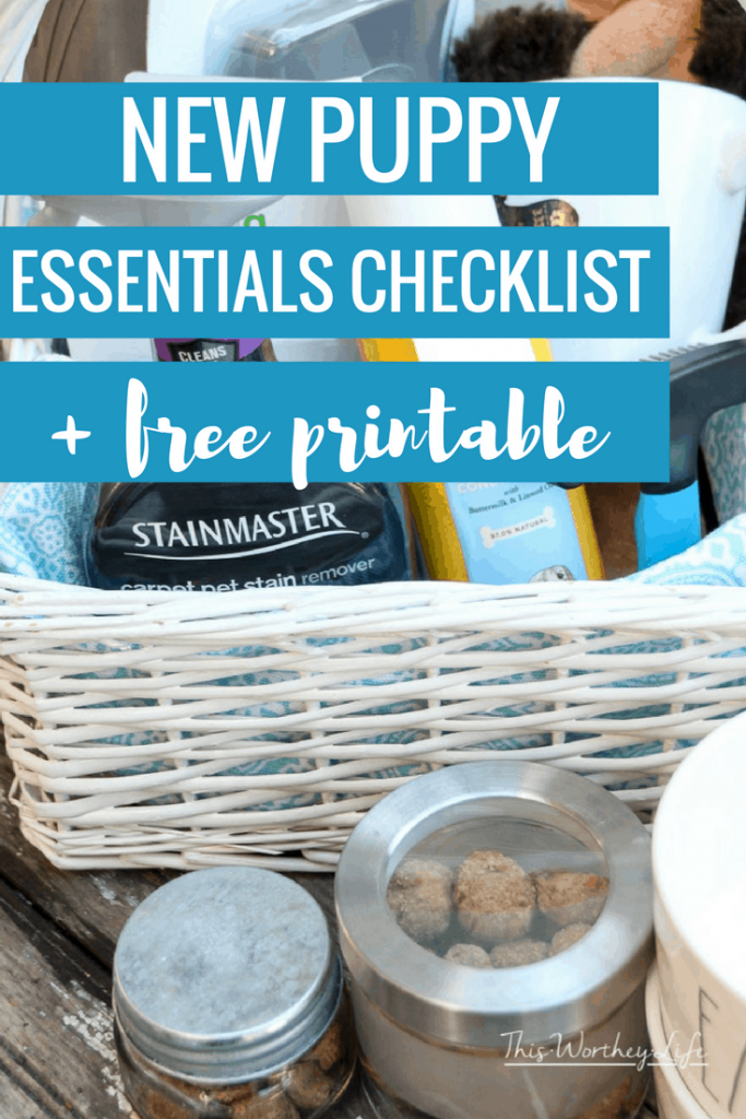 Are you getting a new puppy? We put together a list of what you will need to care for your new puppy. Get our list of New Puppy Essentials Checklist and FREE printable on the blog!