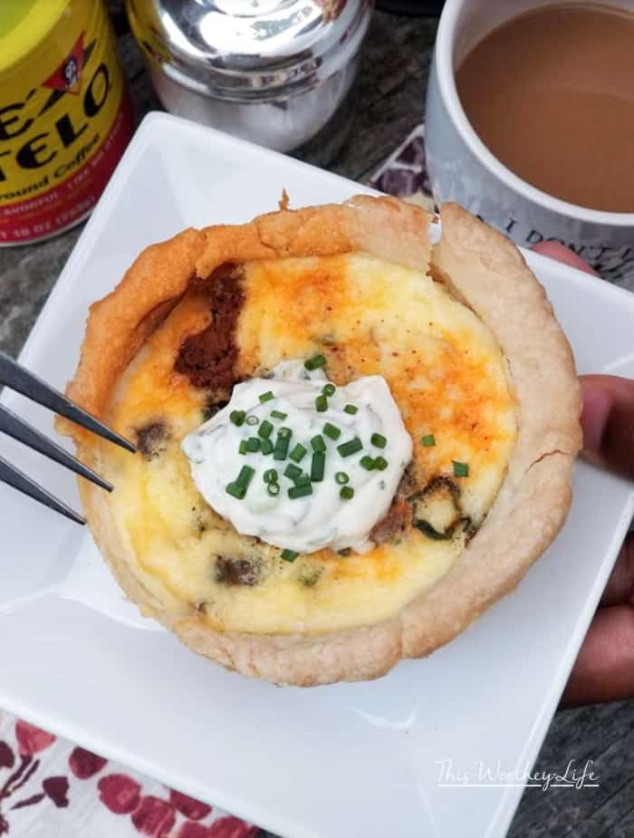Breakfast is one of my favorite things to enjoy on the weekends, as well as a good cup of coffee. See how we put a twist on the classic quiche recipe, by pairing our favorite Hispanic coffee with a Hispanic Quiche breakfast idea. Get our Mini Potato + Chorizo + Swiss Chard Quiche recipe on the blog.