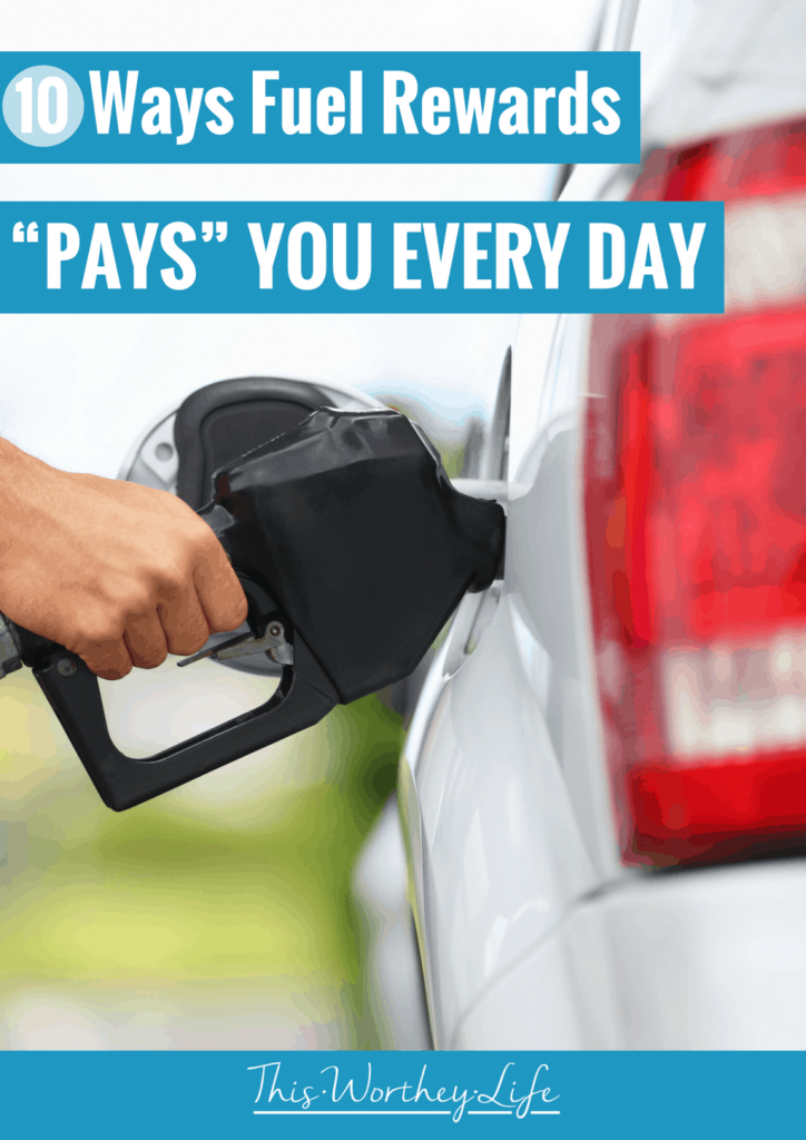 """There are quite a few rewards programs on the market, but how much are you earning with them? I'm sharing tips on how I'm saving on fuel, plus how the Fuel Rewards Program is """"paying"""" me in other ways. Click through to get tips on how to save on gas, and how fuel rewards pays you! #fuelrewards #waystosave #traveltips"""