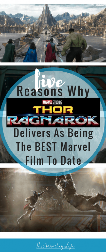 The new Thor movie- Thor Ragnarok comes out November 3rd. Read my Thor Ragnarok movie review (no spoilers) on why Thor Ragnarok delivers as being the best Marvel film to date!