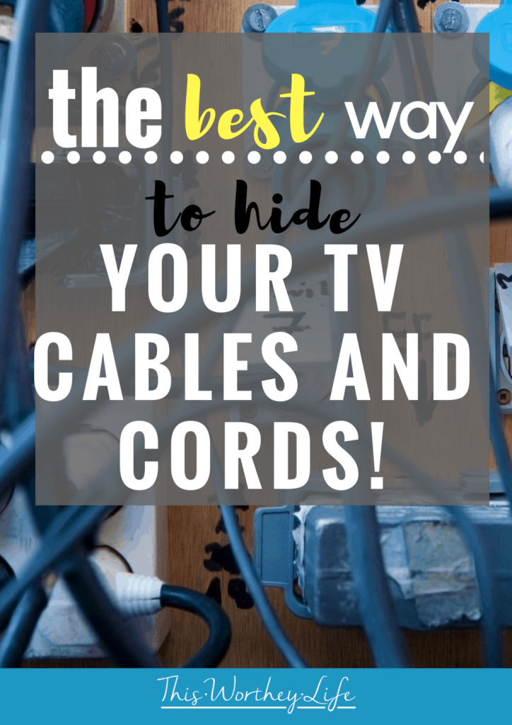 I've found the best way to hide your T.V. cord and cables with no electrical installation required and under 30 minutes.