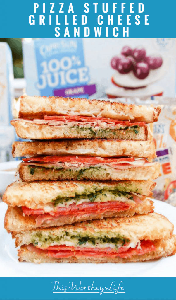 If your kids are fans of pizza and grilled cheese sandwiches, then they will love our twist on these classic food ideas, known as the Pizza Stuffed Grilled Cheese Sandwich. Pair with one of the updated Capri Sun flavors, and you've got a great lunch idea for kids!