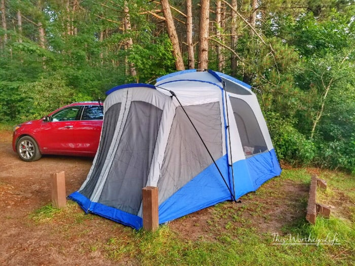SUV Camping In The Kia Sorento