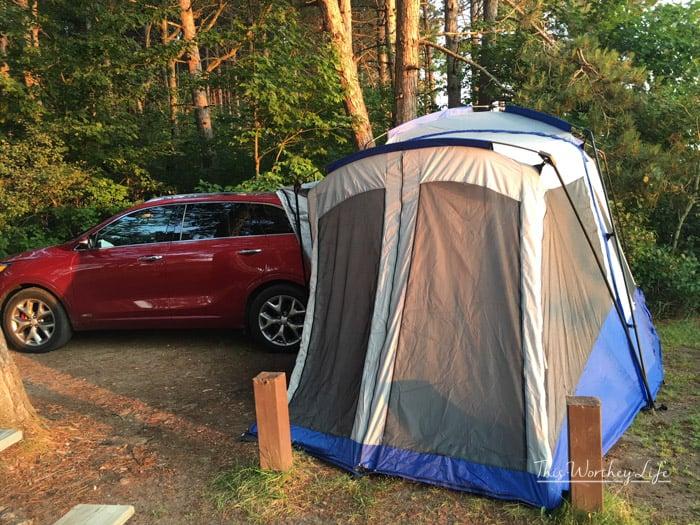SUV Camping In The Kia Sorento