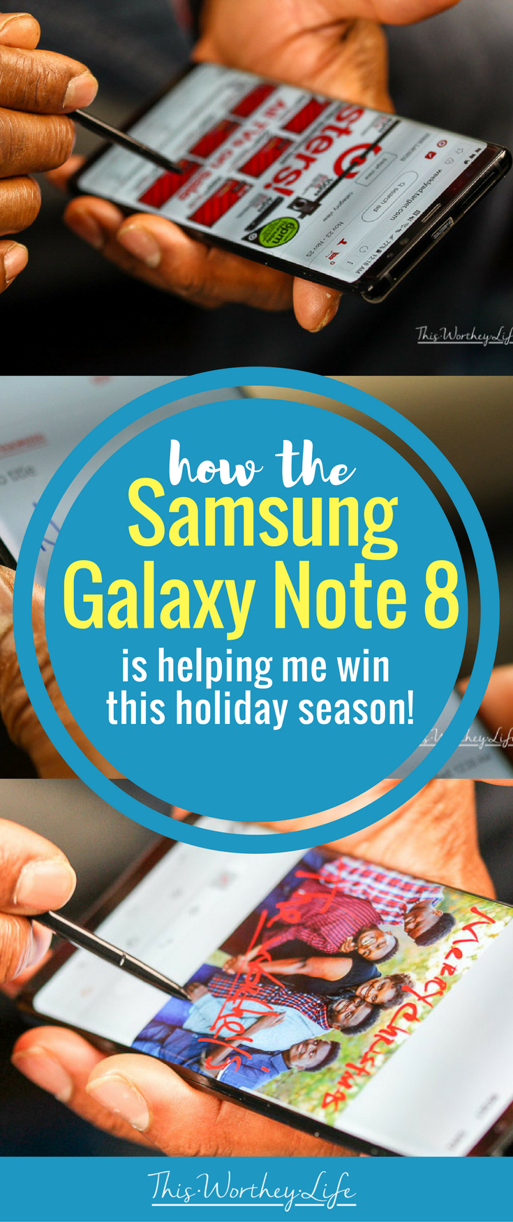 With the hustle and bustle of the holidays, I'm sharing how the Samsung Galaxy Note 8 is helping me win this holiday season with my favorite apps, Black Friday shopping tips, and how I am sending out a personalized holiday card from my smartphone.