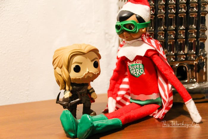 Elf hangs out with THor